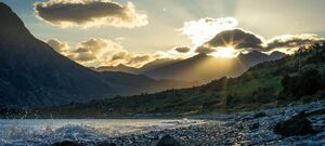 Sunset - The Neck - Lake Hawea - New Zealand