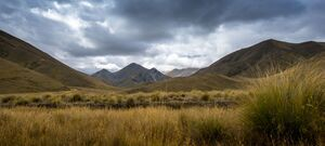 Overcast - Lindis Pass - New Zealand