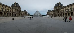 Louvres Pyramid Courtyard Paris